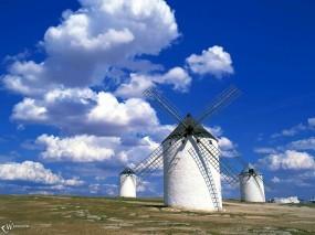 Обои Ветряные мельницы: , Природа
