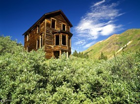 Обои Хижина в горах: , Прочие пейзажи