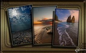 Обои Трио: Три берега, Картины, Фото природы, Моря, Прочие пейзажи