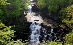 Обои Река клайд в шотландии: Река, Шотландия, Пороги, Прочие пейзажи