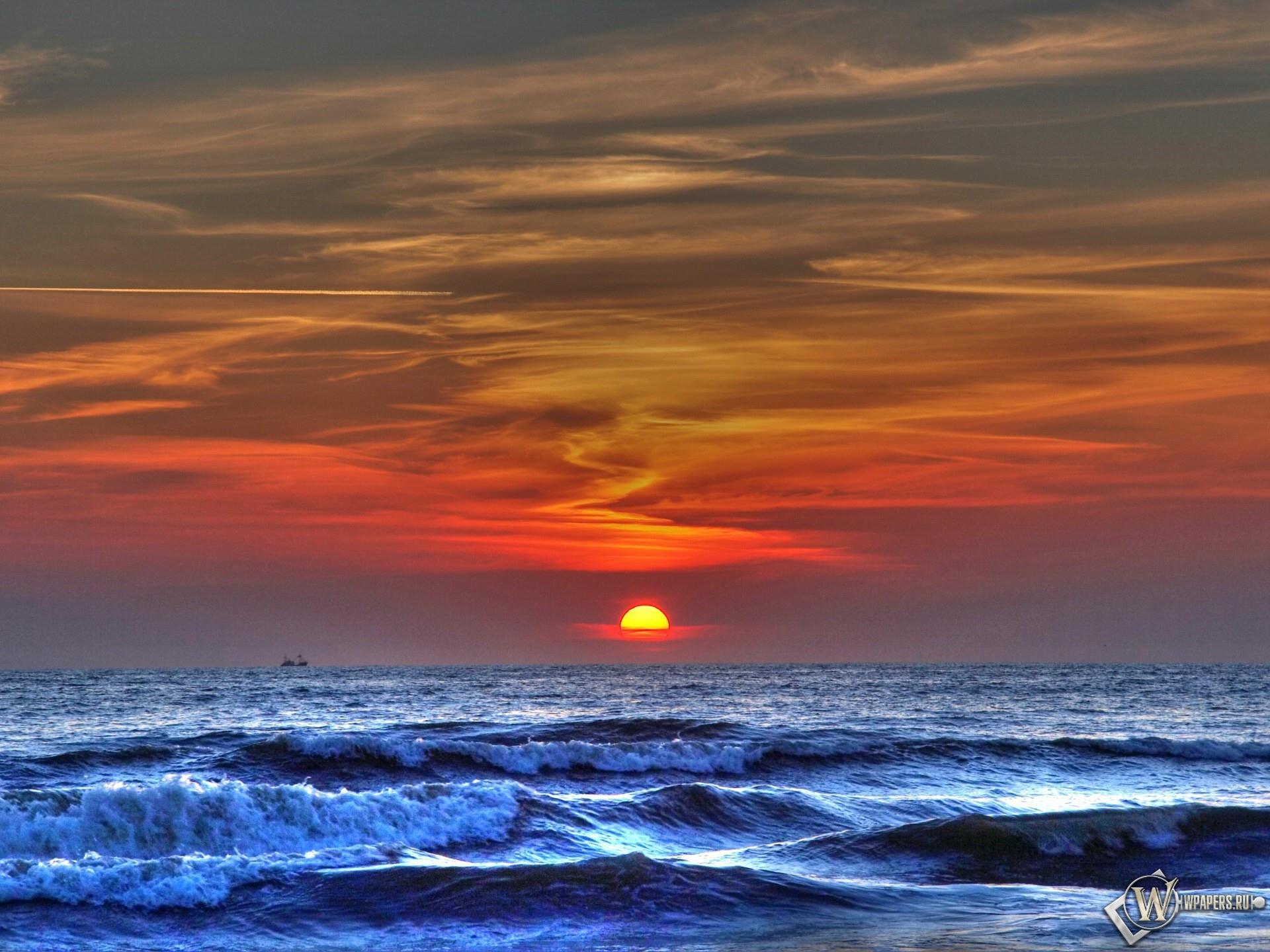 Море на закате 1920x1440