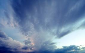 Обои Облака на небе: Облака, Небо, Синий, Прочие пейзажи
