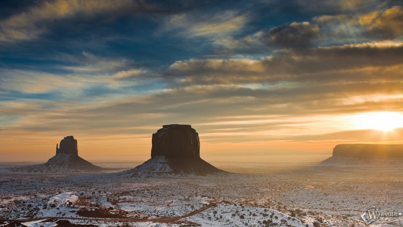 Пустыня Аризоны 1366x768