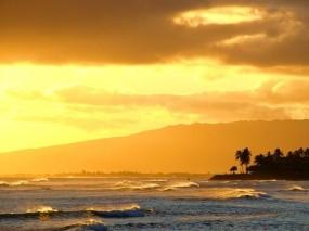 Обои Sunset: Свет, Волны, Море, Прочие пейзажи