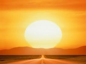 Обои Дорога к солнцу: Дорога, Солнце, Прочие пейзажи