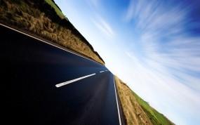 Обои Скоростная дорога: Скорость, Дорога, Небо, Прочие пейзажи