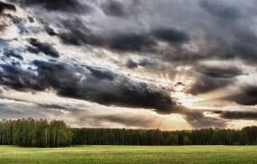Обои Пейзаж: Облака, Деревья, Лучи солнца, Прочие пейзажи