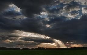 Обои Небесный пейзаж: Свет, Тучи, Небо, Лучи, Прочие пейзажи