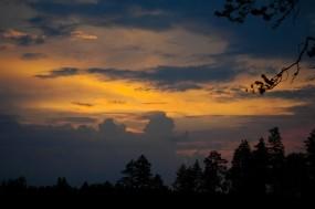 Обои Закат: Закат, Вода и небо