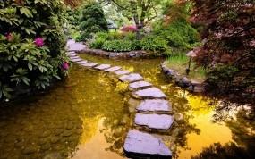 Обои Тропинка через водоем: Камни, Водоём, Тропинка, Прочие пейзажи