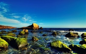 Обои Камни и небо: Вода, Море, Камни, Небо, Прочие пейзажи
