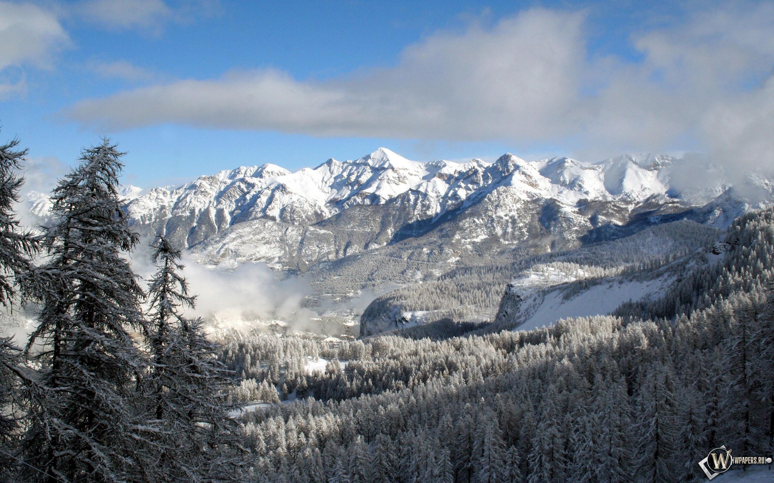 Снежные горы 2560x1600