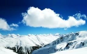 Обои Белые облака: Горы, Снег, Облако, вершины, Горы