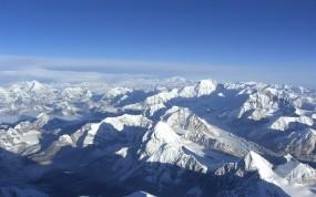 Обои Вершины Эвереста: Горы, Снег, Небо, Эверест, Горы