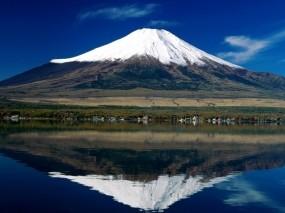 Обои Гора Фудзи: Отражение, Япония, Гора, Горы