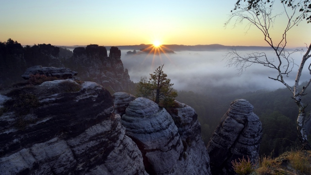 Saxon Switzerland National Park Saxony Germany