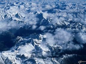 Обои Снежные горы: , Зима