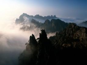 Обои Горы: Облака, Горы, Туман, Горы