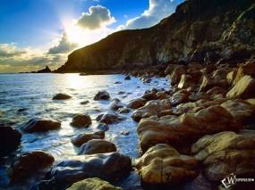 Обои Морские скалы: Море, Утес, Крым, Горы