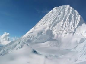 Обои Ледник: Снег, Тропа, Гора, Ледник, Горы