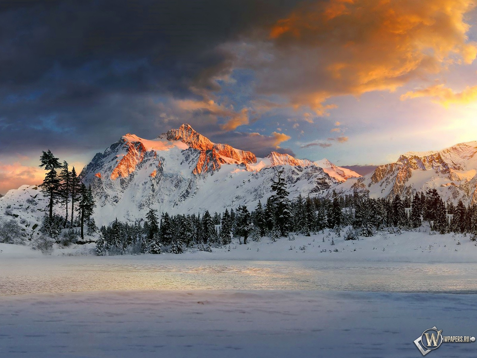 Обои горы озеро Горное озеро Скачать обои на рабочий