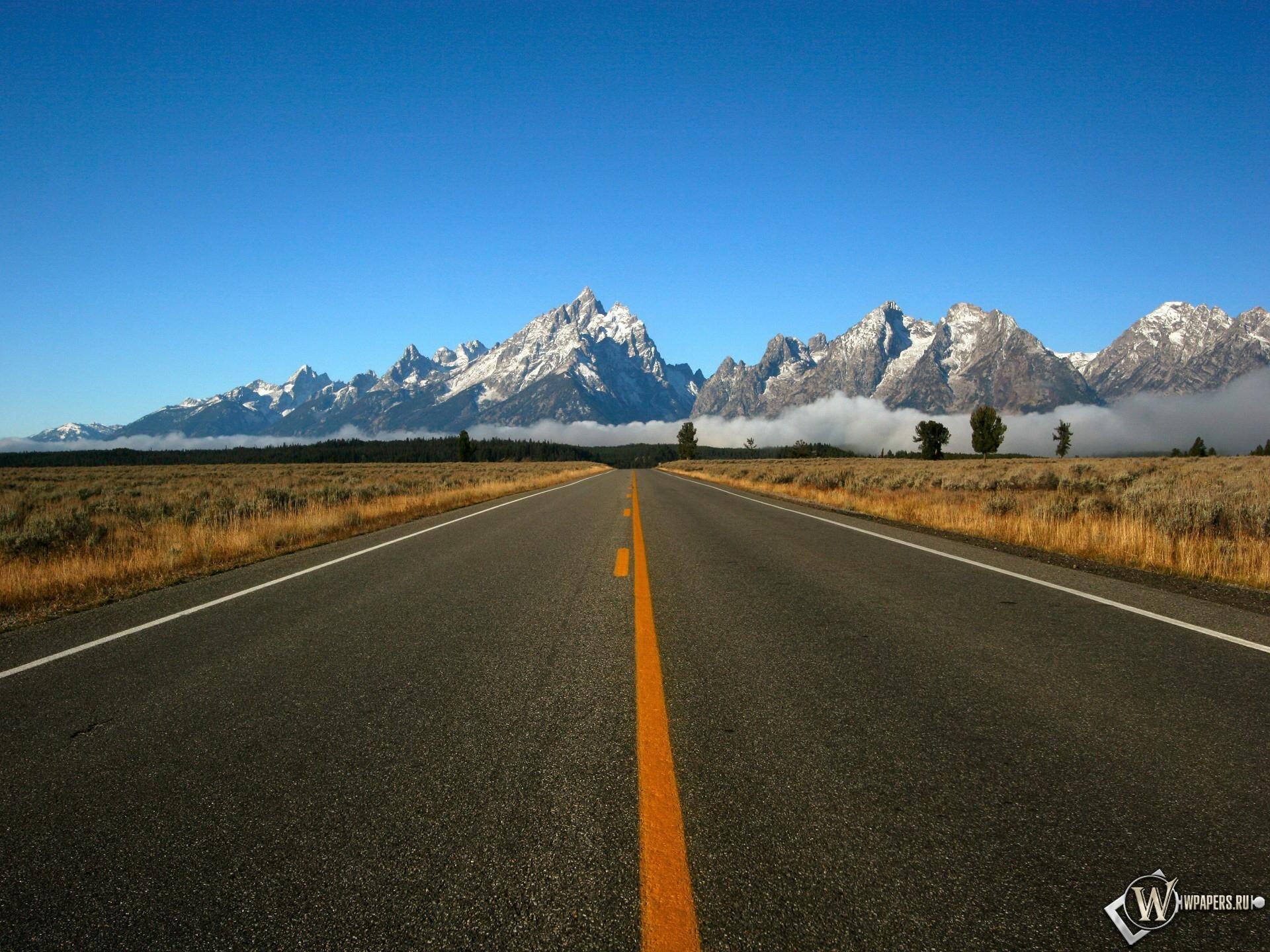 Дорога к горам 1920x1440