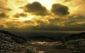 Обои Горная местность: Горы, Скалы, Рассвет, Горы
