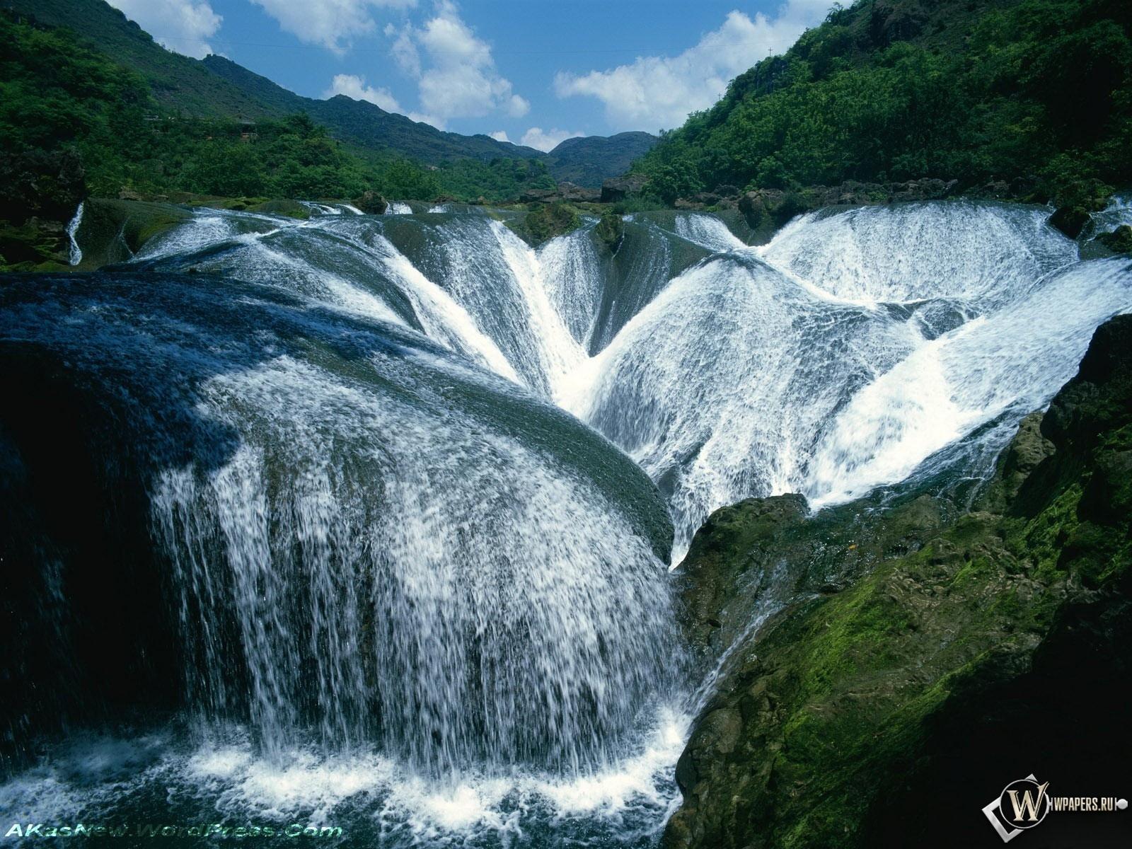 Водопад Жемчужина - долина Цзючжайгоу 1600x1200