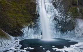 Обои Зимний водопад: Зима, Лёд, Водопад, Водопады