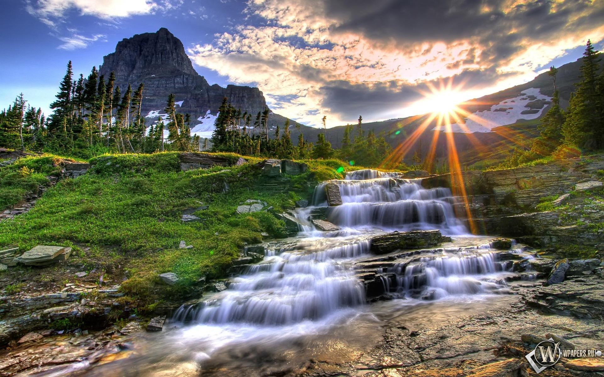 Маленький водопад 1920x1200