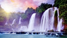 Обои Сказочный водопад: Вода, Водопад, Красиво, Водопады