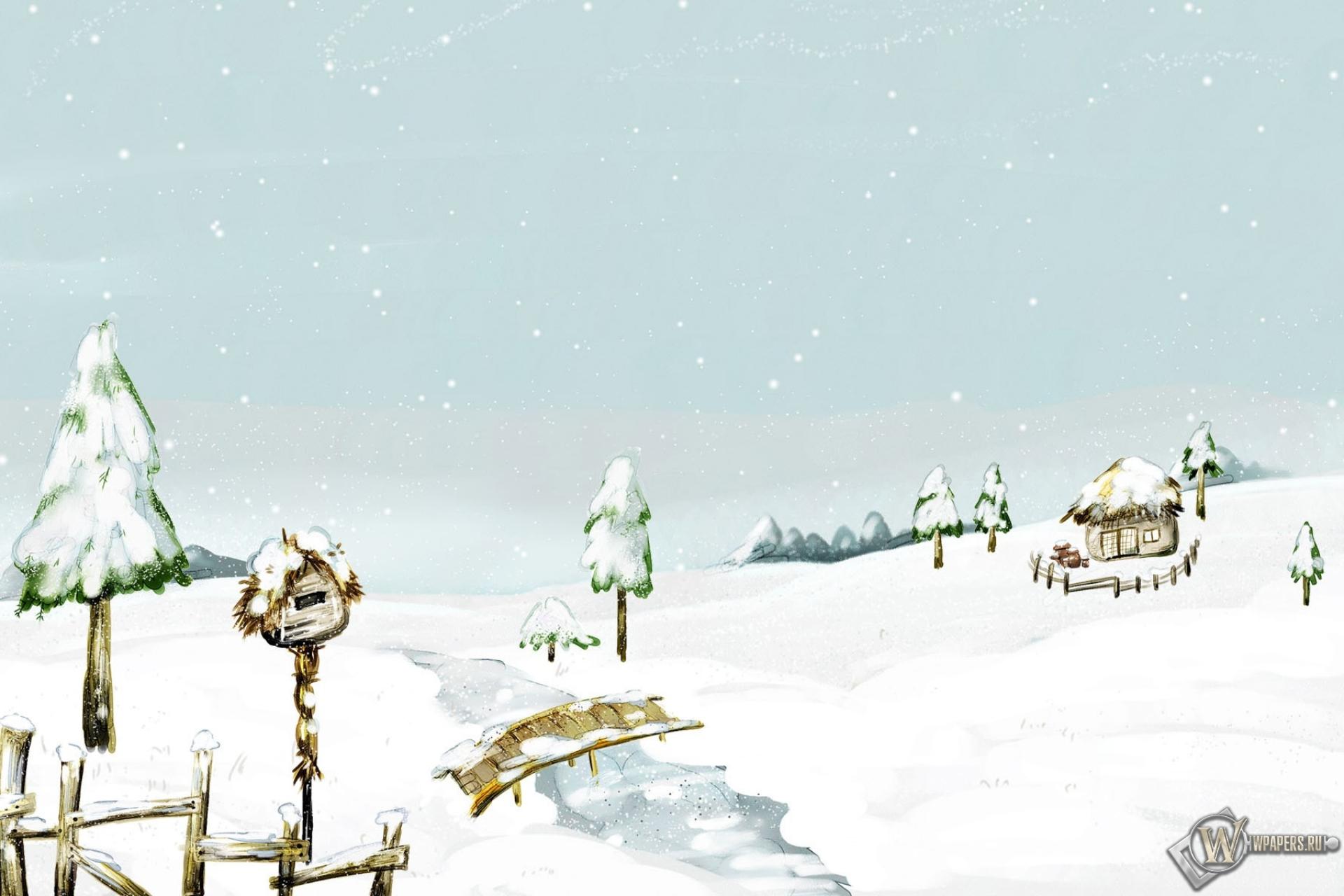 Beautiful Snow Scenery 1920x1280