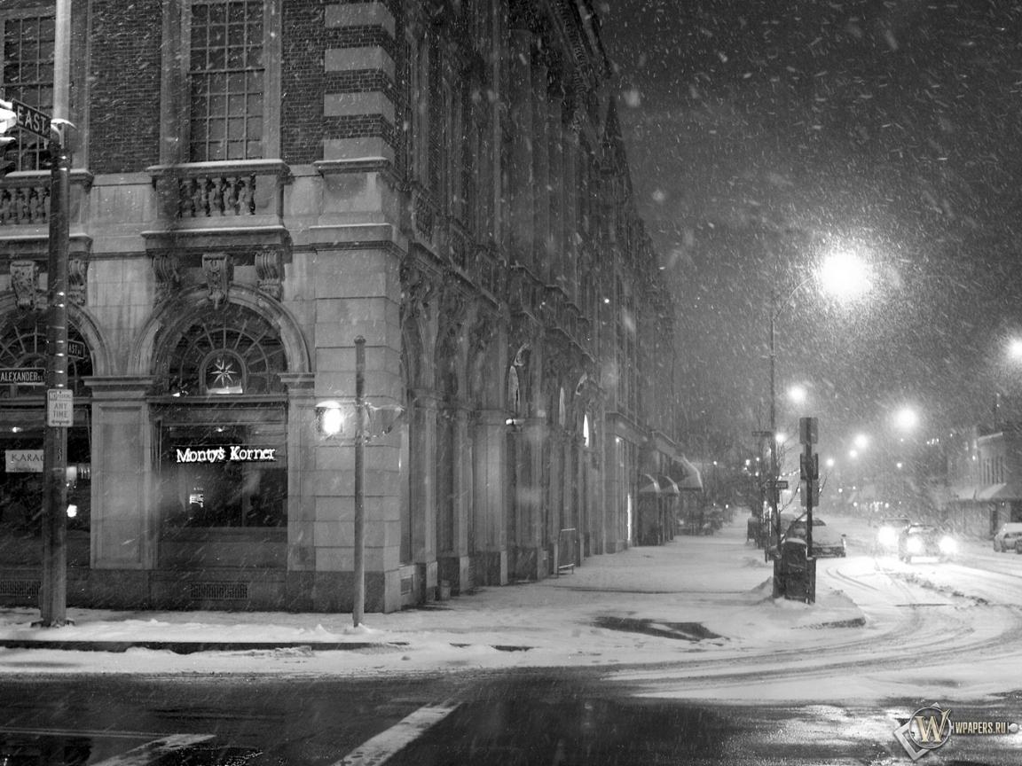 Чёрно-белый снег 1152x864