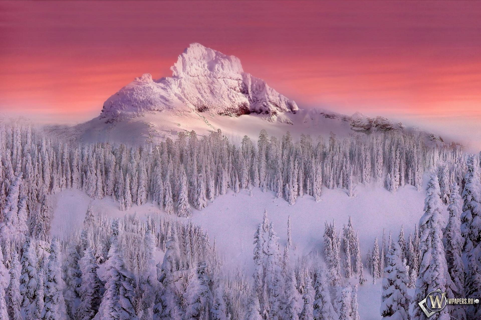 Зимняя гора 1920x1280
