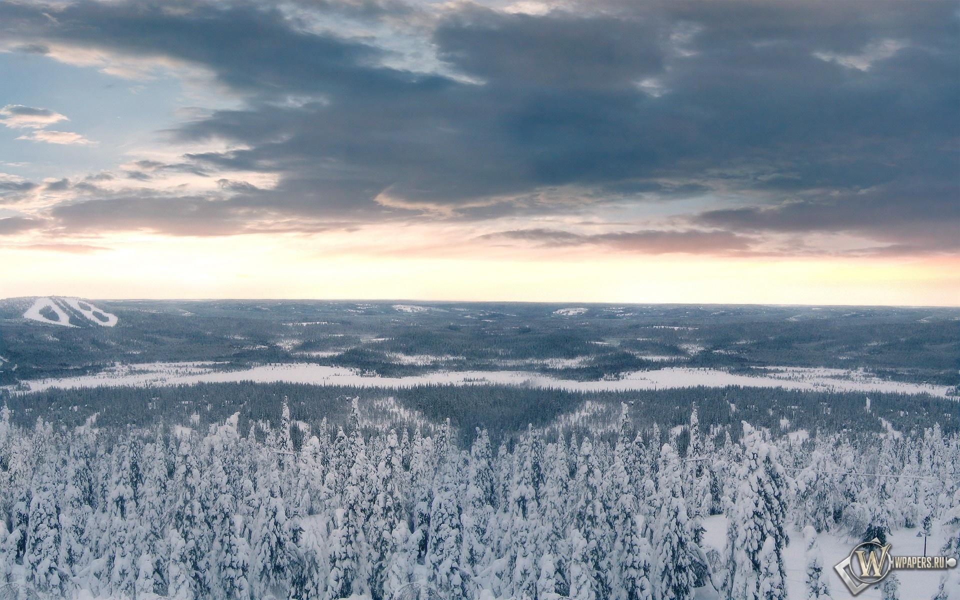 Зимние облака 1920x1200