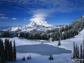 Обои Большая снежная гора: , Зима