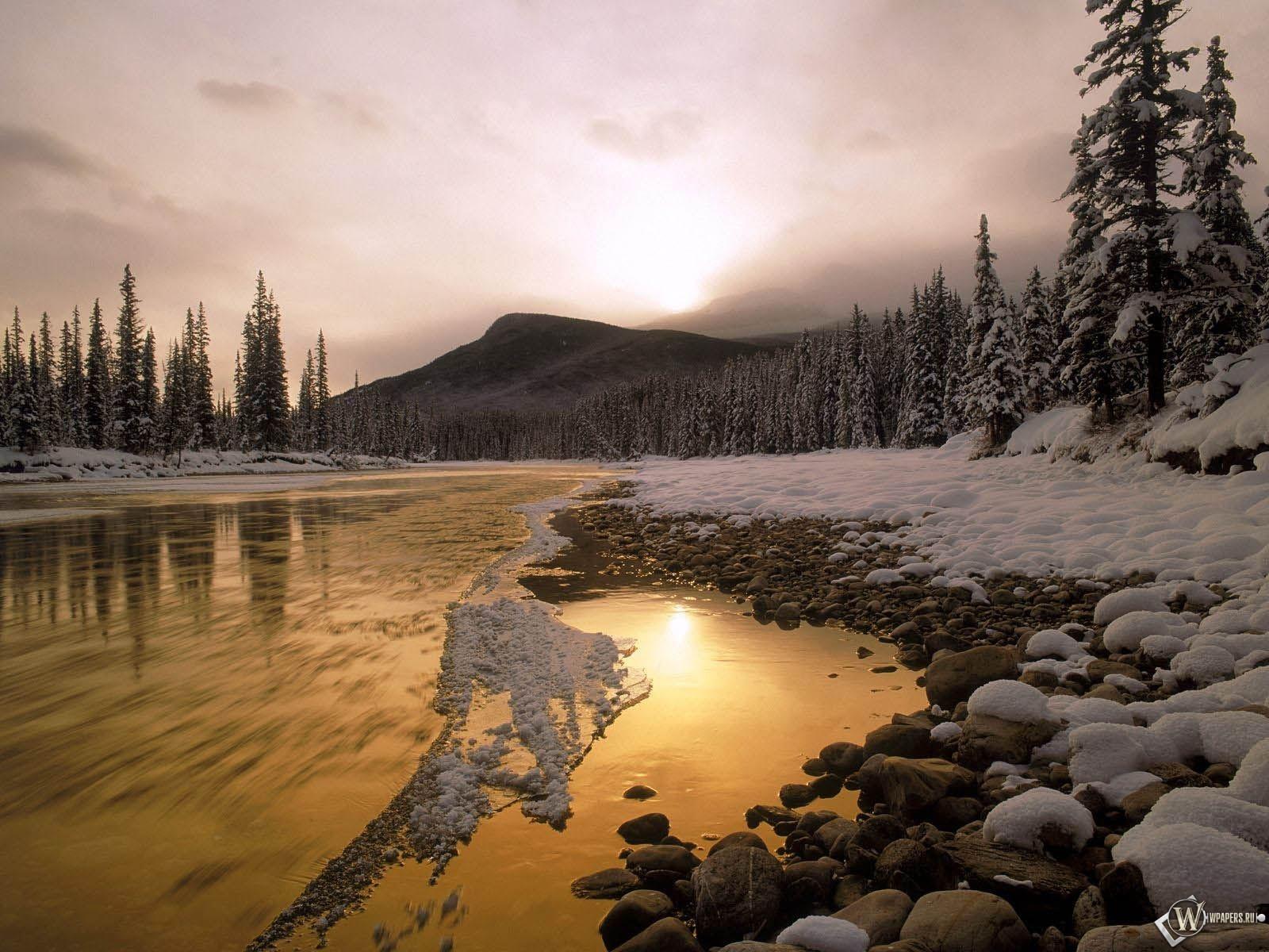 Зимний пейзаж 1600x1200