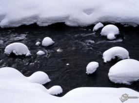Обои Теплое течение зимой: , Зима