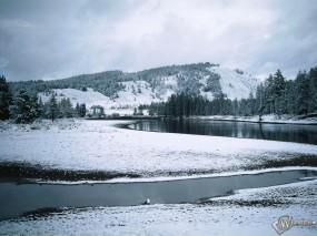 Обои Зимняя речка: , Зима