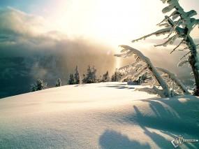 Обои Зимнее высокогорье: , Зима