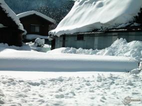 Обои Домишки в снегу: , Зима