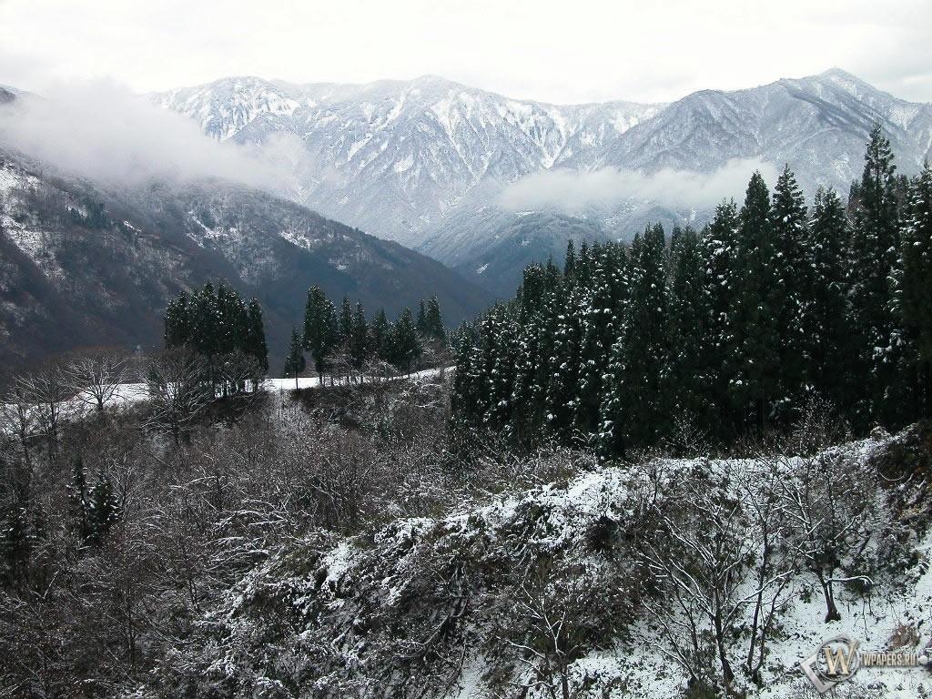 Зимние горы 1024x768