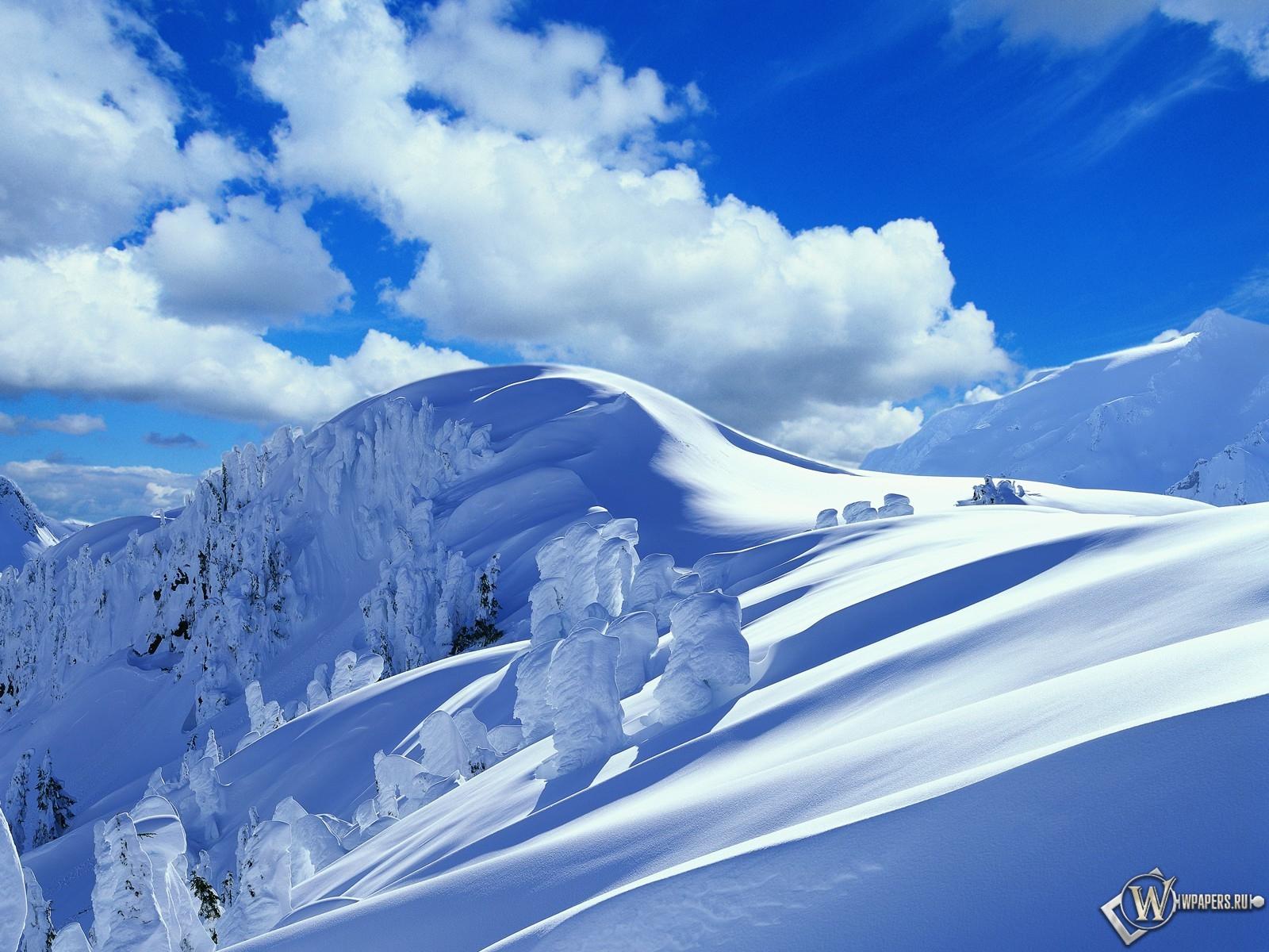 Зимние горы 1600x1200