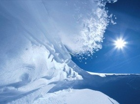 Обои Лавина: Снег, Солнце, Лавина, Зима