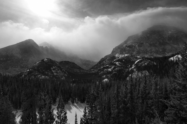 Зимний лес на горах