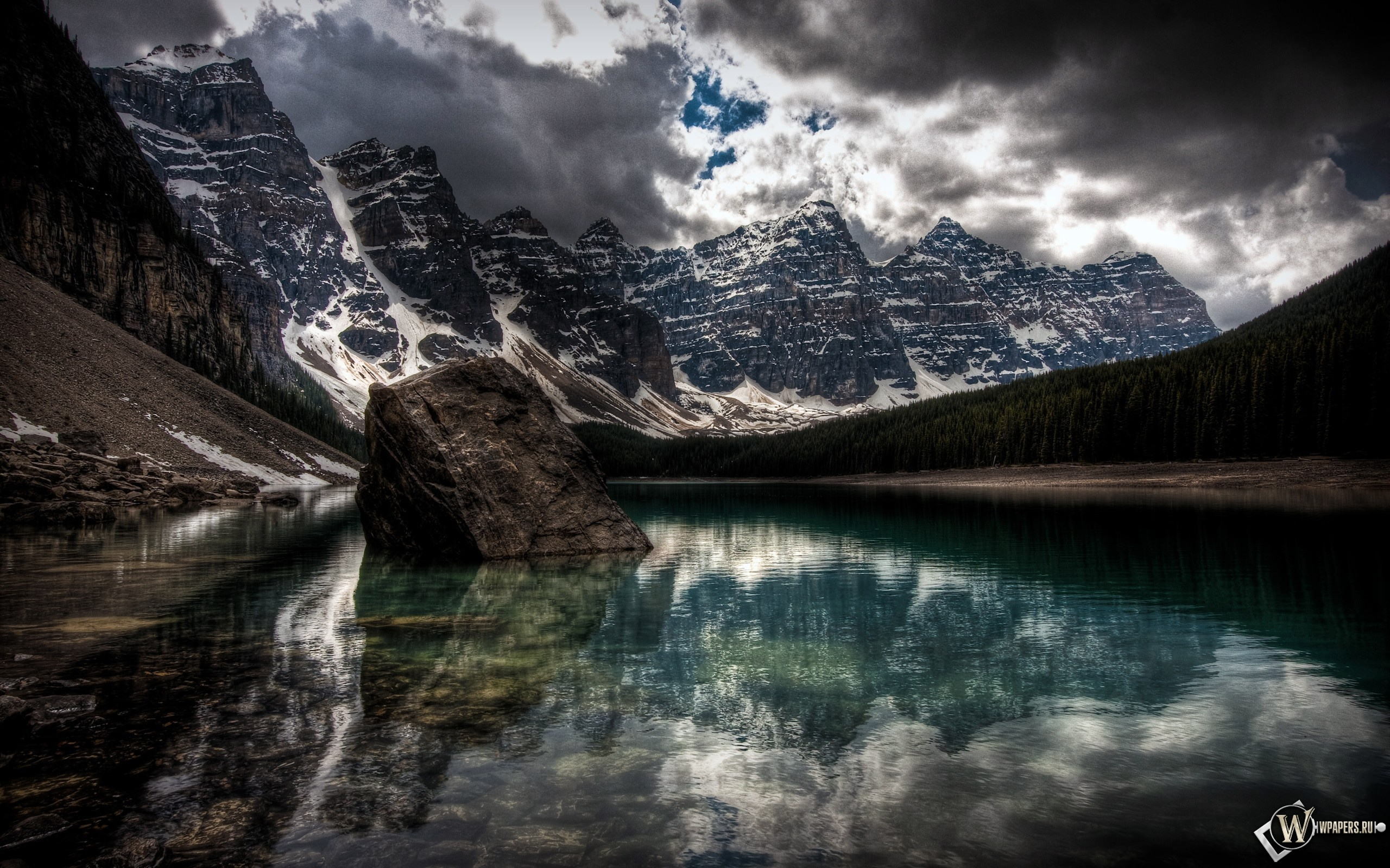 Лесное озеро 2560x1600