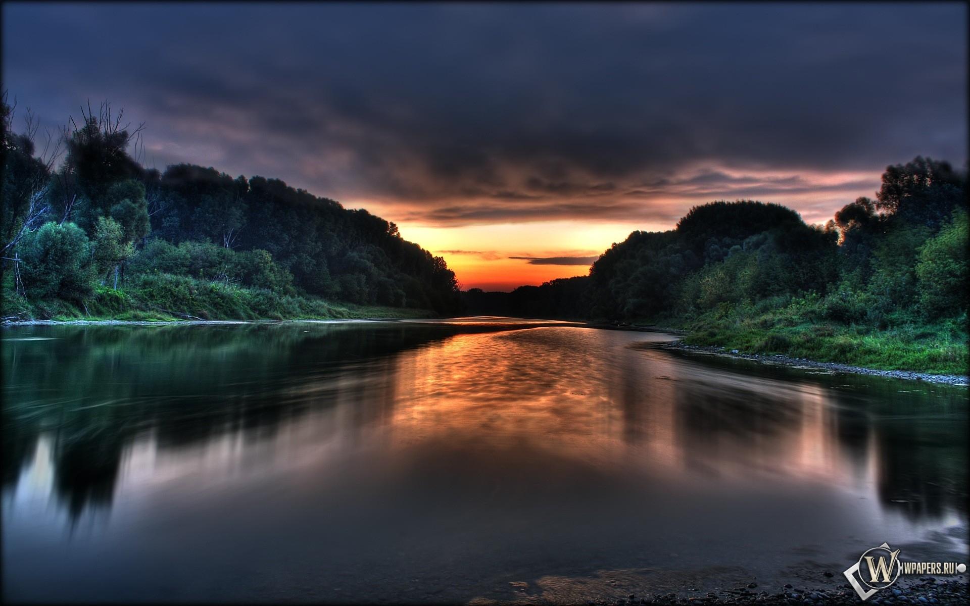 Красивый закат солнца 1920x1200