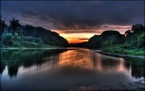 Красивый закат солнца