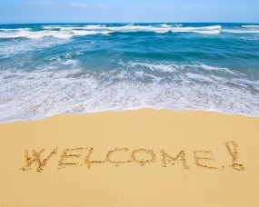 Обои Добро пожаловать на море: Песок, Море, Небо, Relax, Вода и небо