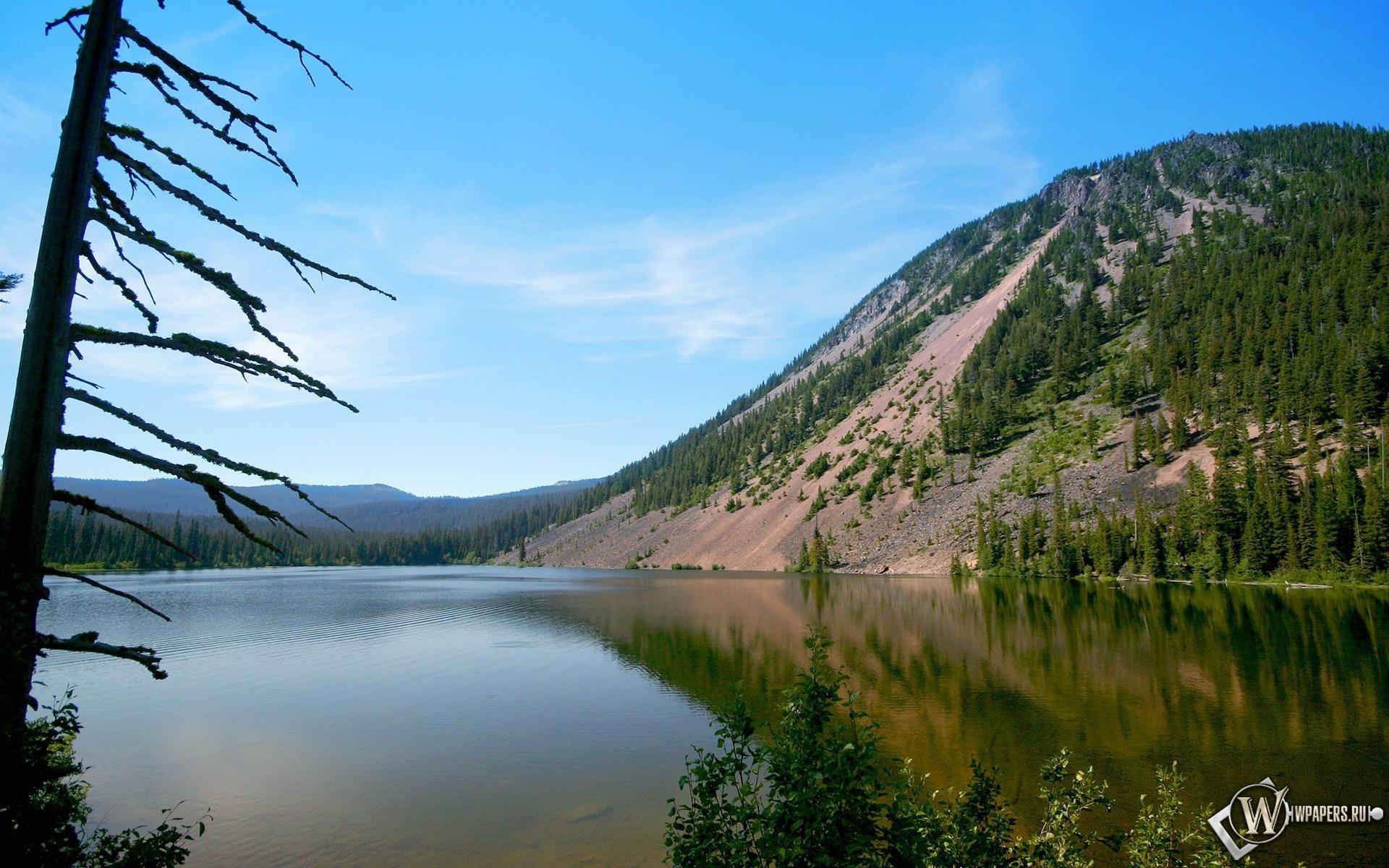 Холм у озера 1920x1200